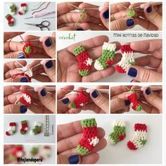 Imagine how cute this would be as a wreath Crochet Crafts, Yarn Crafts, Crochet Projects, Diy Crafts, Crochet Round, Love Crochet, Irish Crochet, Diy Christmas Videos, Christmas Crafts