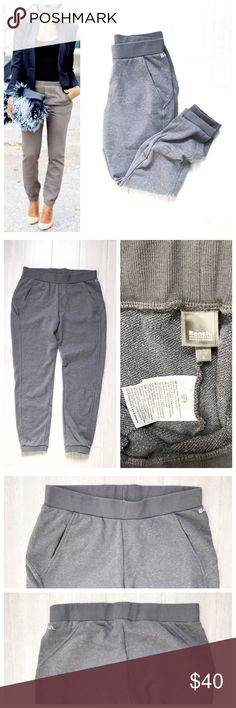 Bench Joggers Gray Grey sweatpants / joggers. Thick elastic band around waist and ankles. Pockets in front. Can be worn dressed up or casual! Great to even lounge in or for a workout! Bench brand. Size large. 66% cotton 34% polyester. Never worn. First photo on left not actual item just showing for style! Bench Pants