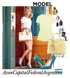 """Model Style"" by avon-capital-federal-argentina ❤ liked on Polyvore featuring SJP, T By Alexander Wang, Prada and Avon"