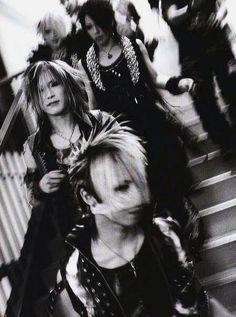 Ruki, Aoi, Uruha, Reita, the GazettE