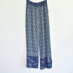 Pantalón estampado azul