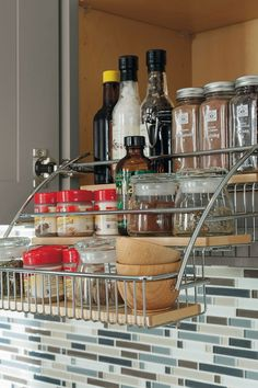 Diamond at Lowes - Cabinet Interiors - Pull Down Spice Rack