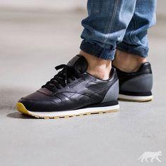 BornxRaised x Reebok Classic Leather BXR: Black/Grey