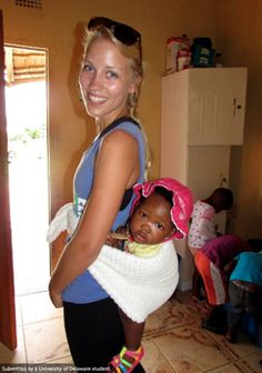 UD students got themselves into all sorts of unique and beautiful situations while in South Africa, like carrying a baby on their back!