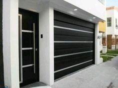 35 Trendy Ideas For Home Design Ideas Exterior Garage House Gate Design, Main Gate Design, Door Gate Design, House Front Design, Fence Design, Modern Garage Doors, Modern Door, Garage Door Design, House Entrance