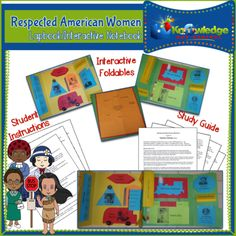 Respected+American+Women+Lapbook++from+Knowledge+Box+Central+on+TeachersNotebook.com+-++(44+pages)++-+Many+women+in+history+are+examples+of+character+qualities+well+worth+imitating.+Discover+interesting+facts+about+Corrie+ten+Boom,+Nellie+Bly,+Pocahontas,+Wilma+Rudolph,+Helen+Keller+and+many+others.+
