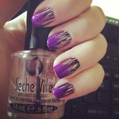Wispy nail art