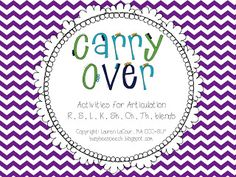 Busy Bee Speech: Articulation Carry-Over Activities! Pinned by SOS Inc. Resources. Follow all our boards at pinterest.com/sostherapy for therapy resources.