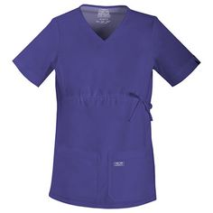 Core Stretch by Cherokee Workwear Women's Maternity Knit Panel V-Neck Solid Scrub #maternity #scrubs #nurse #doctor #hospitalstyle #medicalstyle