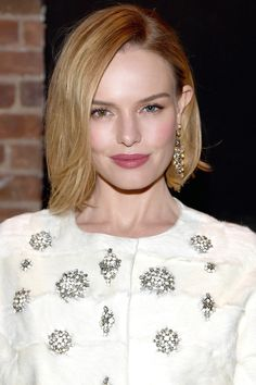 Who: Kate Bosworth What: A Short New Cut How-To: Hairstylist Harry Josh gave the actress a chic lob for an upcoming role yesterday, which she showed off on Instagram then paired with rosy makeup for a night out. To get the piecey texture that makes short cuts look so cool, you'll need a light-hold pomade or styling cream to give the ends separation and movement. Editor's Pick: Bumble & Bumble Brilliantine, $24, sephora.com.   - HarpersBAZAAR.com