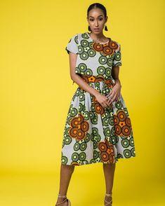 "f9e78d2dd5e AfricaBaie ( africabaie) on Instagram  ""Preppy Midi Dress Design by  MSEDivine"""