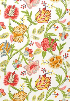 CAYMAN, Brights on White, T4906, Collection Jubilee from Thibaut