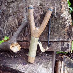 Handmade wooden slingshot
