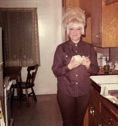 Connie had heard that eating cucumber and goat cheese sandwiches would help your hair grow....it worked..