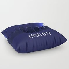 Our Floor Pillows are the cushiest cushions ever crafted. Made with 100% polyester for a soft touch, and overstuffed with firm-yet-plush fill so they never lose shape. Features a bar tack center stitch for an aesthetic dimple - and to prevent rips. Spot clean with warm water and mild detergent.  city, town, moon, stars, night, america, skyline, silhouette, skyscraper, unated states, usa, Kansas, Missouri, architecture, cityscape, house, illustration, black, design, element, graphic…
