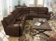 Laramie Sectional, Living Rooms | Havertys Furniture $2000-2500. Available in brown & saddle (medium brown)  Also comes with matching recliner $459