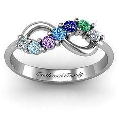 Infinity Ring | Mother's Ring If i had money I'd buy this for my mother...