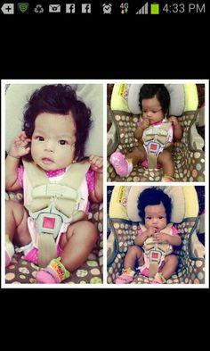 Blasian baby girl
