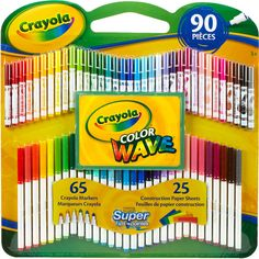 Crayola Markers Colors | Crayola Super Tips/Pip-Squeaks Color Wave Markers with Construction ...
