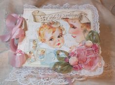 Beautiful Little Darlings baby album by @Wanda Buxton from Graphic 45's Ning #graphic45