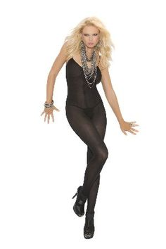 Elegant Moments Lingerie 1601 Black Bodystocking Sexy opaque bodystocking in mysterious black with thin shoulder straps, round neckline and body hugging design. The open crotch ads further sex-appeal to this provocative look. http://www.MightGet.com/january-2017-12/elegant-moments-lingerie-1601-black-bodystocking.asp