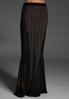 STONE_COLD_FOX Aquarius Skirt in Black/Tan at Revolve Clothing - Free Shipping! - StyleSays