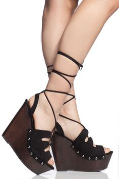 Black Faux Suede Wrap Around Clog Wedges @ Cicihot Wedges Shoes Store:Wedge Shoes,Wedge Boots,Wedge Heels,Wedge Sandals,Dress Shoes,Summer Shoes,Spring Shoes,Prom Shoes,Women's Wedge Shoes,Wedge Platforms Shoes,floral wedges