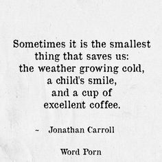 The smallest thing that saves us - Jonathan Carroll - quote - Word porn