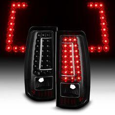 Gmc Sierra 1500 1500hd 2500 2500hd 2001 2006 3500 99 02 Chevy Silverado 01 03 Led C Strip Tail Lights