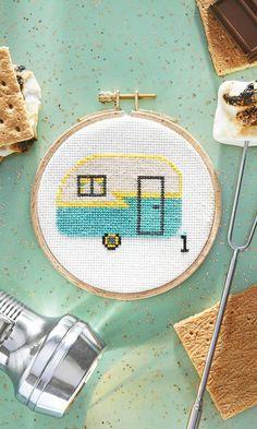 Camper Cross Stitch Pattern