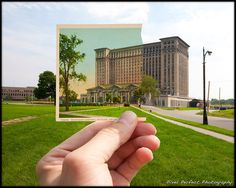 Michigan Central Station - Then and Now: This pic was taken by Lance Rosol... see more of his work at http://www.pixelperfect-photo.com/ (via Core Detroit)