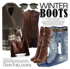 """Own Your Look"" by clotheshawg ❤ liked on Polyvore featuring Chicwish, Rick Owens, Wet Seal, Frye, See by Chloé and Ray-Ban"