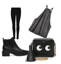 """""""Untitled #494"""" by heden-fun ❤ liked on Polyvore featuring RVCA and Anya Hindmarch"""