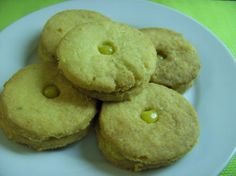 Ginger and Lime Shortbread Sandwiches