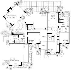 Traditional House Plan 90292 Level One