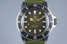 Obsessed with the way this dial has patinaed.1963 Rolex Submariner 5513 PCG with Tropical Gilt UNDERLINE Dial