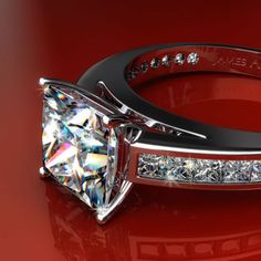 Engagement Ring Featuring Princess Cut Diamond