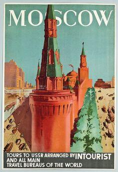 Туристический постер в СССР для иностранцев • НОВОСТИ В ФОТОГРАФИЯХ
