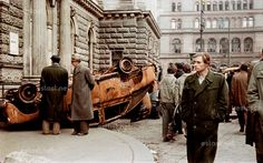 1956 uprising in colour, Budapest, Hungary Colorful Pictures, Old Pictures, Hungary History, Theater, National Theatre, Budapest Hungary, Colour Images, Color Photography, World War Two
