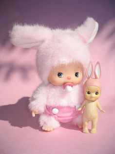 Baby Monchichi & Sonny Angel bunny, total cuteness overload!