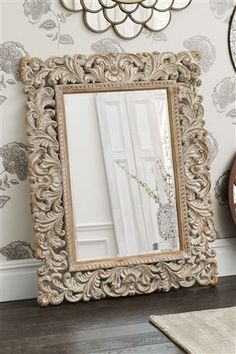 Buy Large Carved Mirror from the Next UK online shop