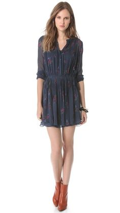 6f40f9a594 floral print Pintuck Dress by Band of Outsiders Hipster Chic