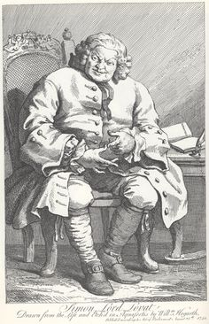 "William Hogarth's engraving of the Jacobite Lord Lovat prior to his execution,  from ""The Genius of William Hogarth or Hogarth's Graphical Works""."