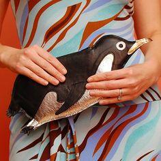 Metallic penguin clutch