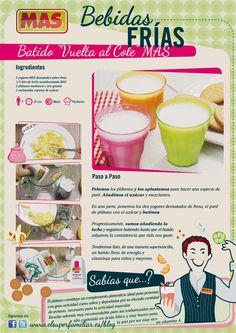 #Receta de #batido de #frutas. #InfoReceta #Infografias #recipes #recetas #infogrhapics