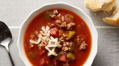 This hearty stuffed pepper soup made with ground beef, green bell peppers, and diced tomatoes can simmer all day in the slow cooker and be ready in time for a filling and comforting dinner. Slow Cooker Soup, Slow Cooker Recipes, Crockpot Recipes, Cooking Recipes, Crockpot Dishes, Casserole Recipes, Best Soup Recipes, Dinner Recipes, Healthy Recipes