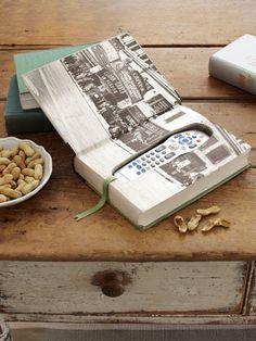 How to Make a Book Box Remote Control Holder » Curbly | DIY Design Community