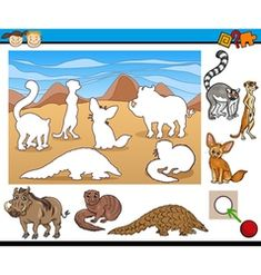 Cartoon educational task for kids Royalty Free Vector Image Animal Activities For Kids, Educational Games For Kids, Book Activities, Free Preschool, Preschool Games, Transitional Kindergarten, Animal Tracks, Kids Vector, Cat Character