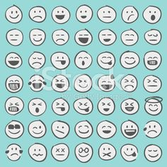 Professional set of 49 hand draw emoji icons ready to be used in any. Emoji Drawings, Cute Letters, Little Doodles, Diy Calendar, Drawing For Kids, Drawing Stuff, Cute Icons, Bullet Journal Layout, Fun Crafts For Kids
