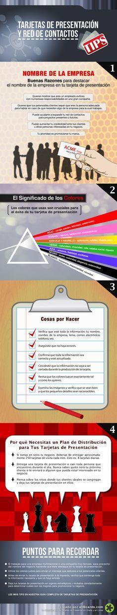 Hola: Una infografía sobre Consejos para tus tarjetas de visita. Vía Un saludo